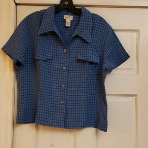 Ann Taylor Loft 2-PC Blue Pajama Set Size 14